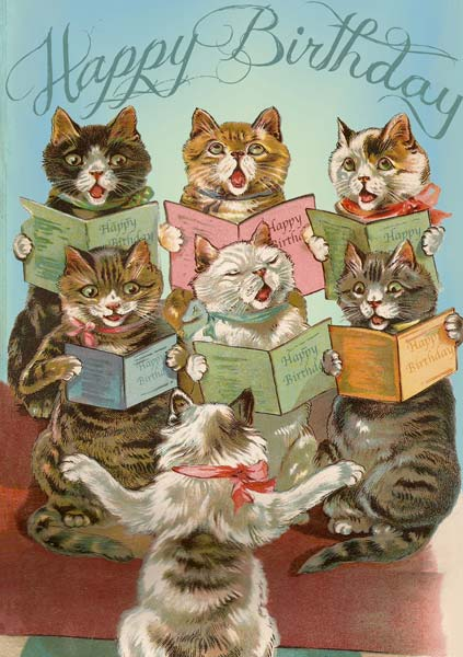Madame Treacle Cat Chorus Birthday Card Mthb087