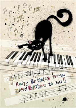 Bug art cat keyboard birthday card bah014 bookmarktalkfo Gallery