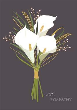 The Art File Lily Sympathy Card #SAM038NQ