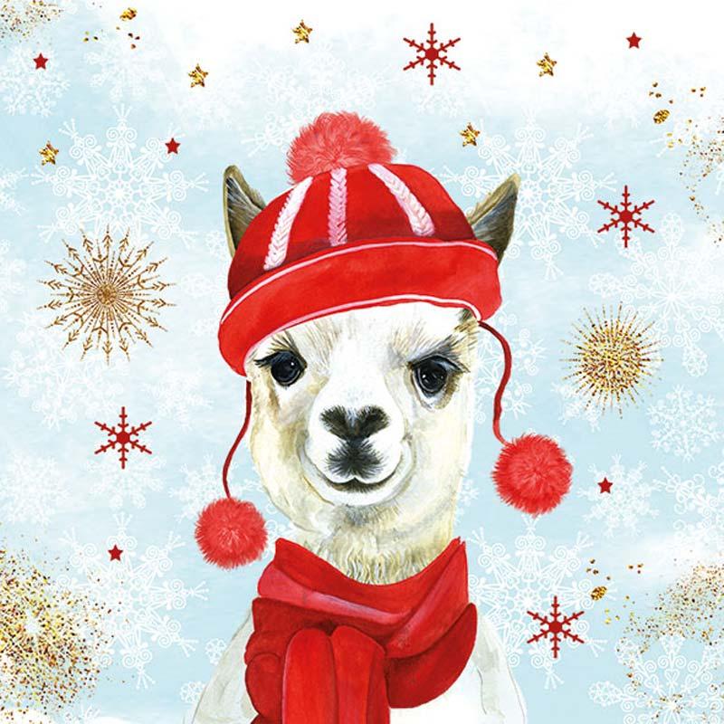 Christmas Llama.Ambiente Europe Llama Christmas Luncheon Napkins 33313425