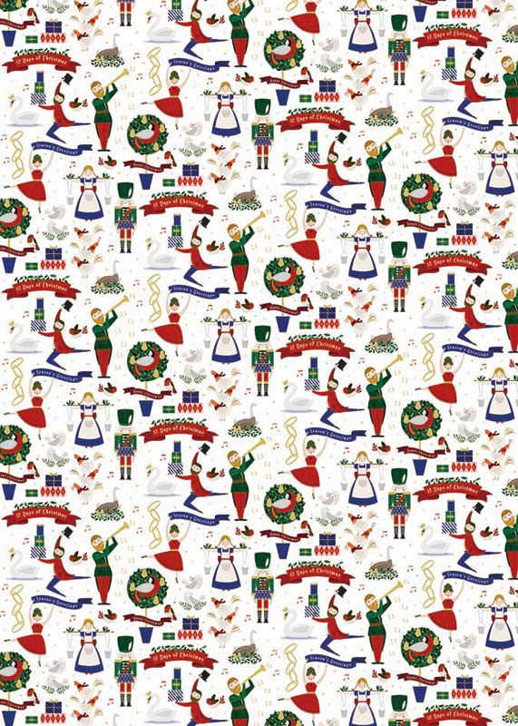 Christmas Music In August.The Art File Christmas Music Sheet Gift Wrap Afgwx032