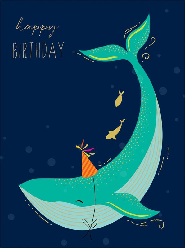 Stupendous The Art File Whale Birthday Cards Afps020 Funny Birthday Cards Online Hetedamsfinfo