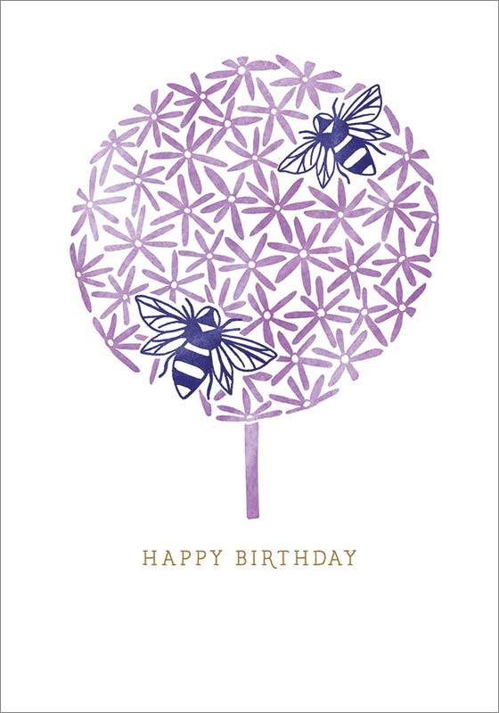 The Art File Tree With Bees Birthday Card Sta003