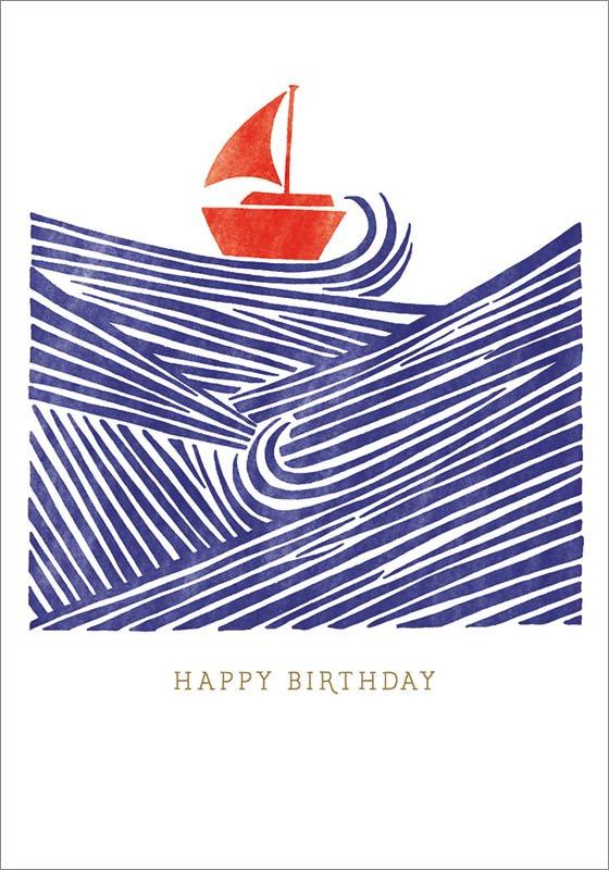 the art file sailboat birthday card sta006