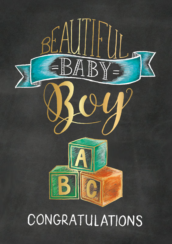 artige - baby boy congratulations