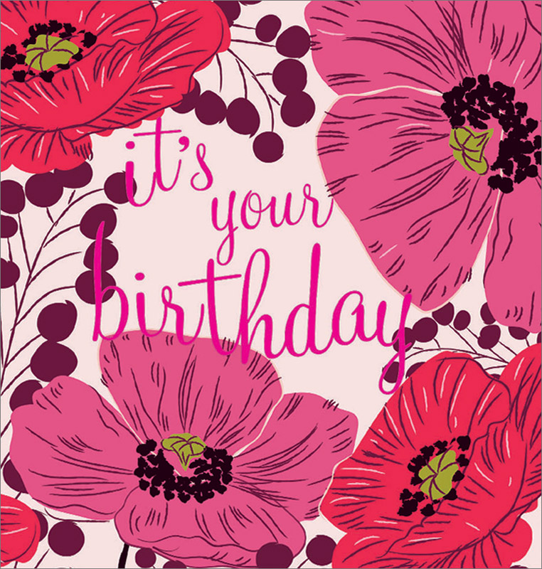 Caroline Gardner Its Your Birthday Birthday Card Tly004