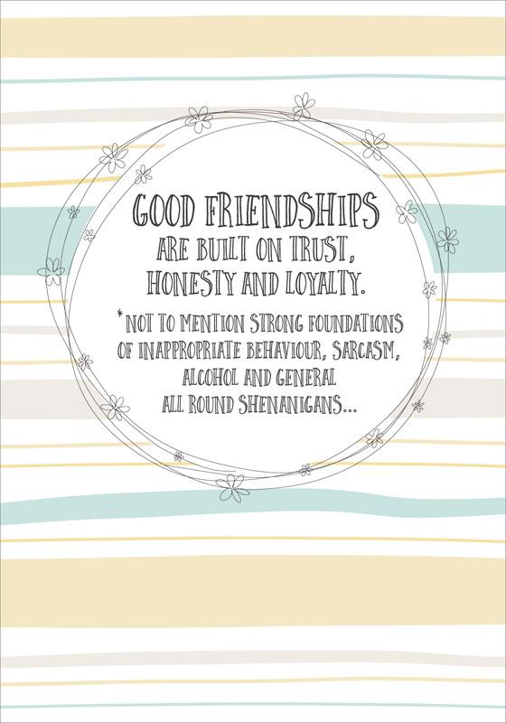 Dandelion Stationery Good Friend Friendship Card D3315