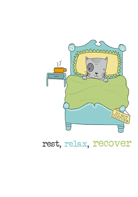 Recover Letterpress Card Relax Rest