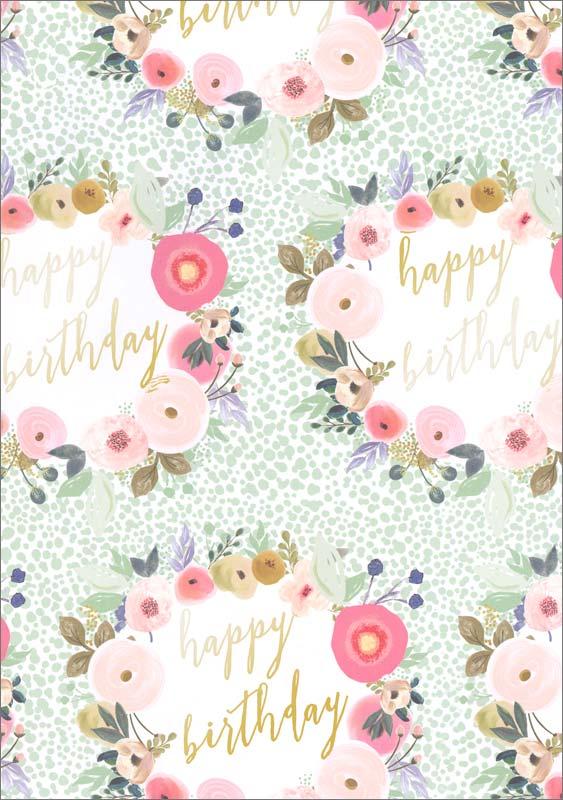 Glick Publishing Happy Birthday Sheet Gift Wrap Wst05