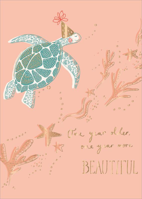 Ling Design Ltd Turtle Birthday Card Lnq0159