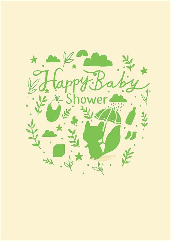 LNQ0225 Baby Shower Card Squirrel