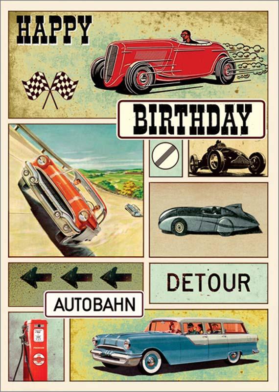 Lip International Classic Cars Birthday Card Lg002