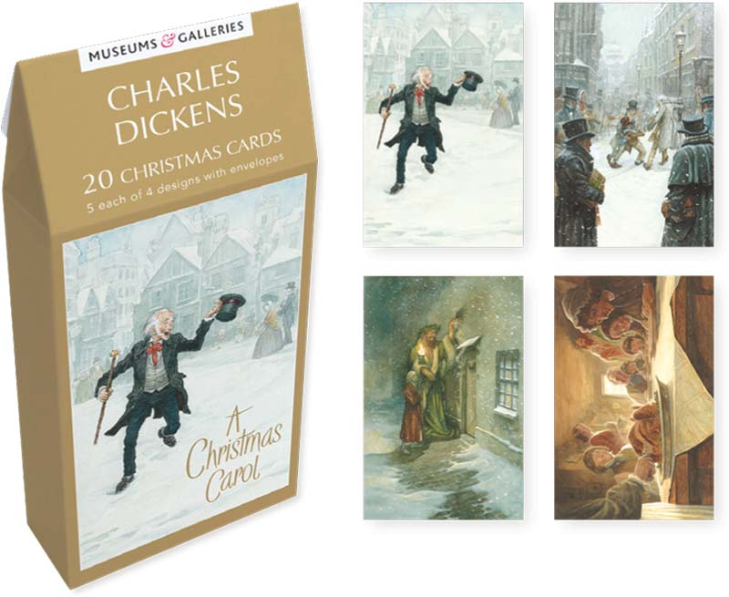 Museums galleries dickens christmas carol boxed cards tenx801 m4hsunfo