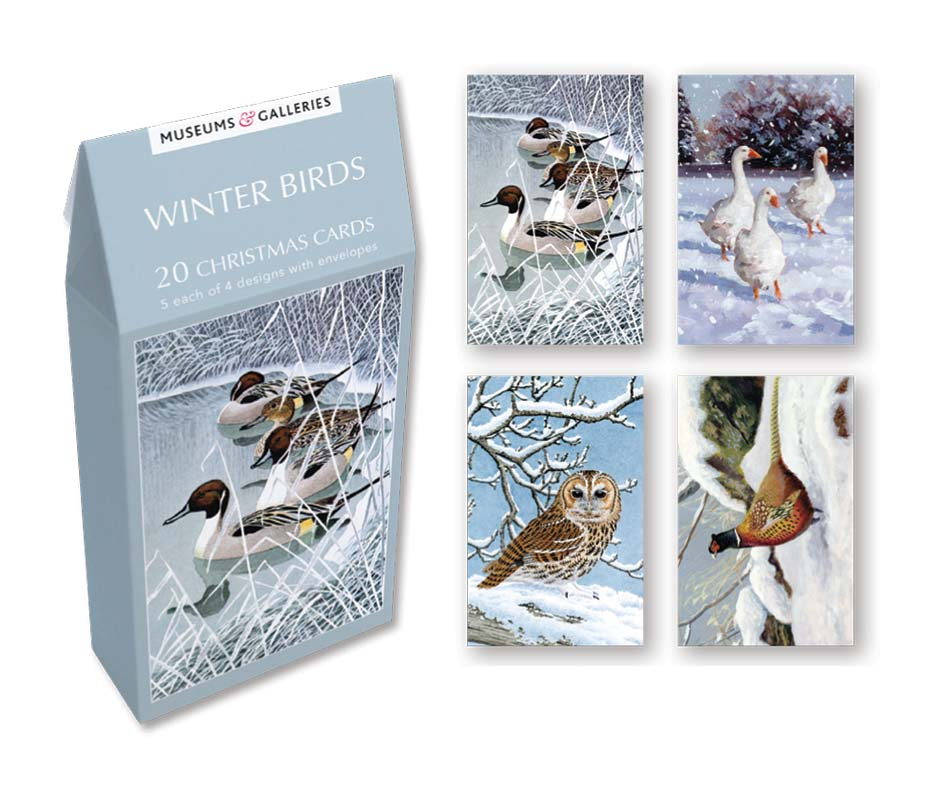 Museums galleries winter birds boxed cards tenx803 m4hsunfo