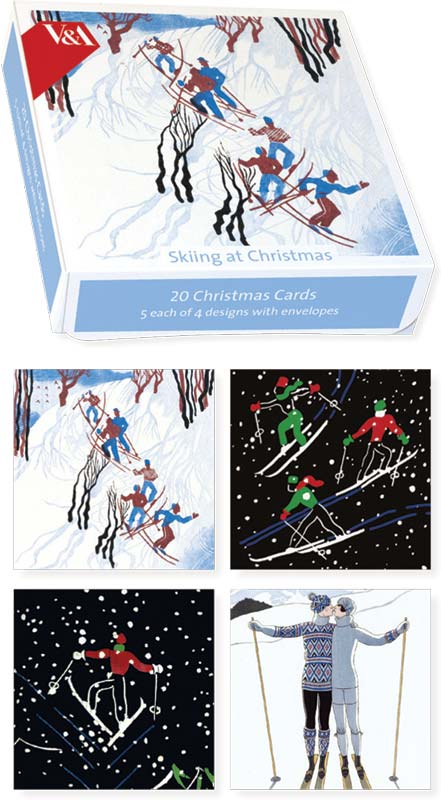 Museums galleries skiing at christmas boxed cards xet220 m4hsunfo