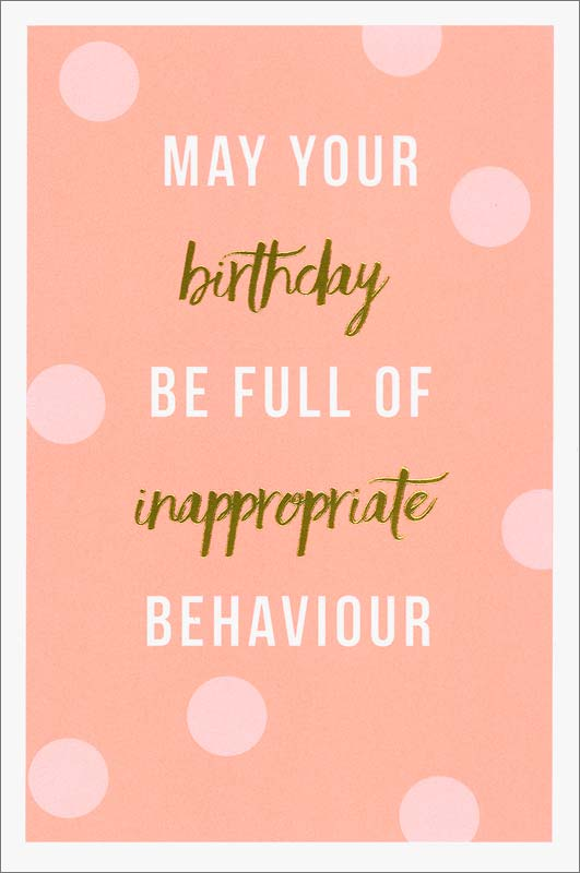Meraki Greetings Inappropriate Birthday Card Ear12k