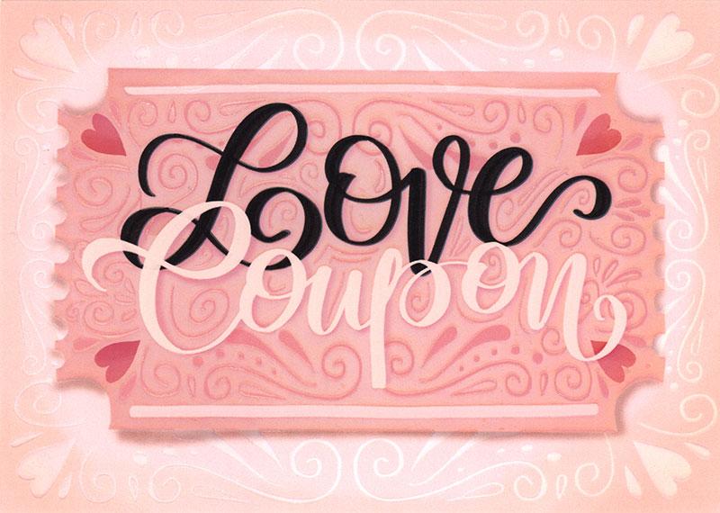Little Posy Print Co. - Love Coupon - Love Card #FE124