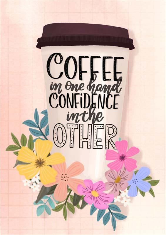 Little Posy Print Co Coffee Cup Friendship Card #GP104