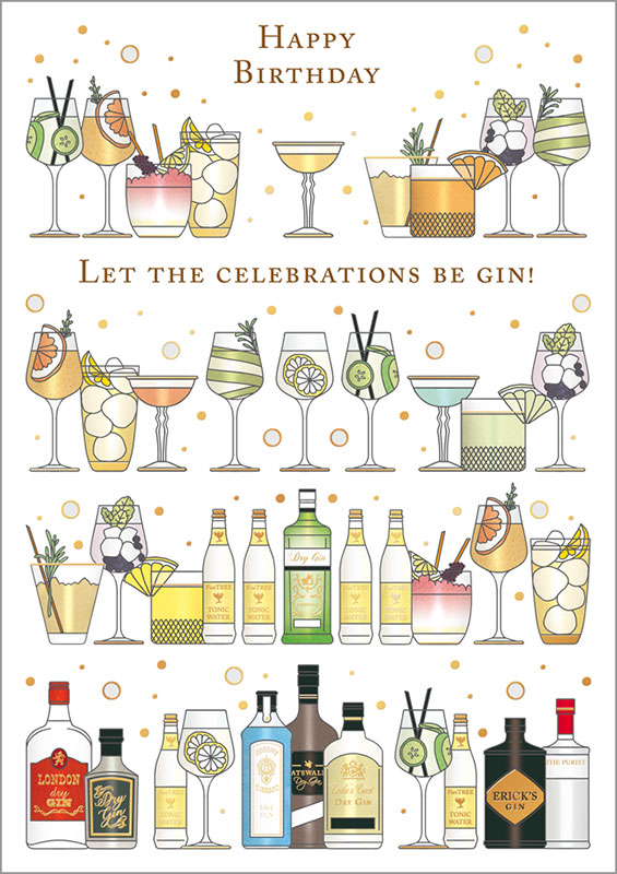 Quire Publishing Cocktails Birthday Card Mc3564