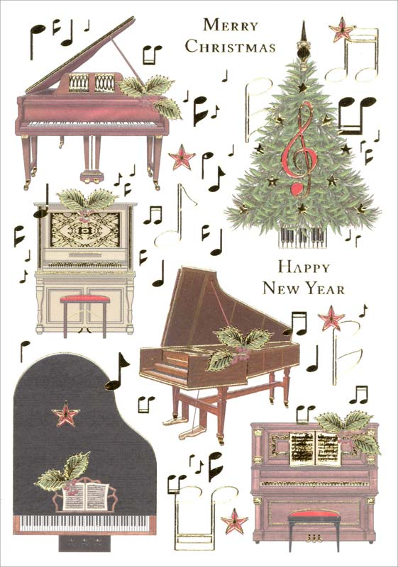 Christmas Piano.Quire Publishing Piano Music Christmas Card Mcx4475
