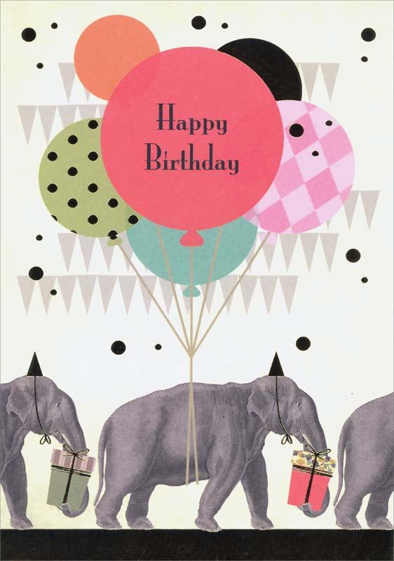 Quire Publishing Elephants Birthday Card P1137
