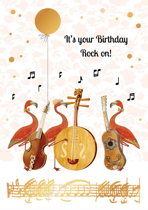 Quire Publishing Music Rock On Birthday Card P1179