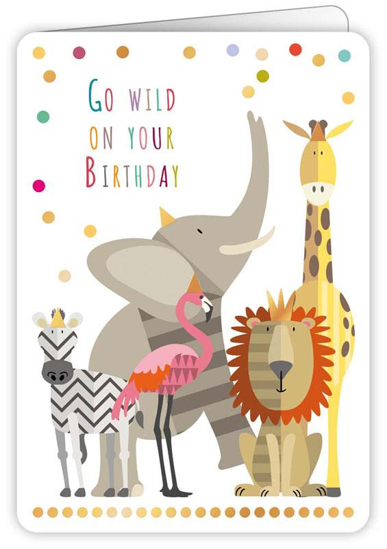 Quire Publishing Zoo Animals Birthday Card Qcr5250