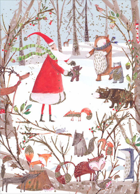 real exciting designs woodland christmas christmas card chcx012 - Woodland Christmas