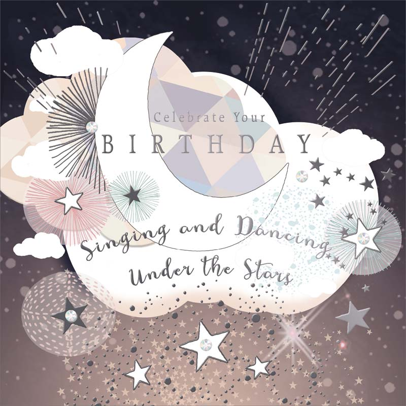 Real exciting designs moon birthday card mol909 m4hsunfo