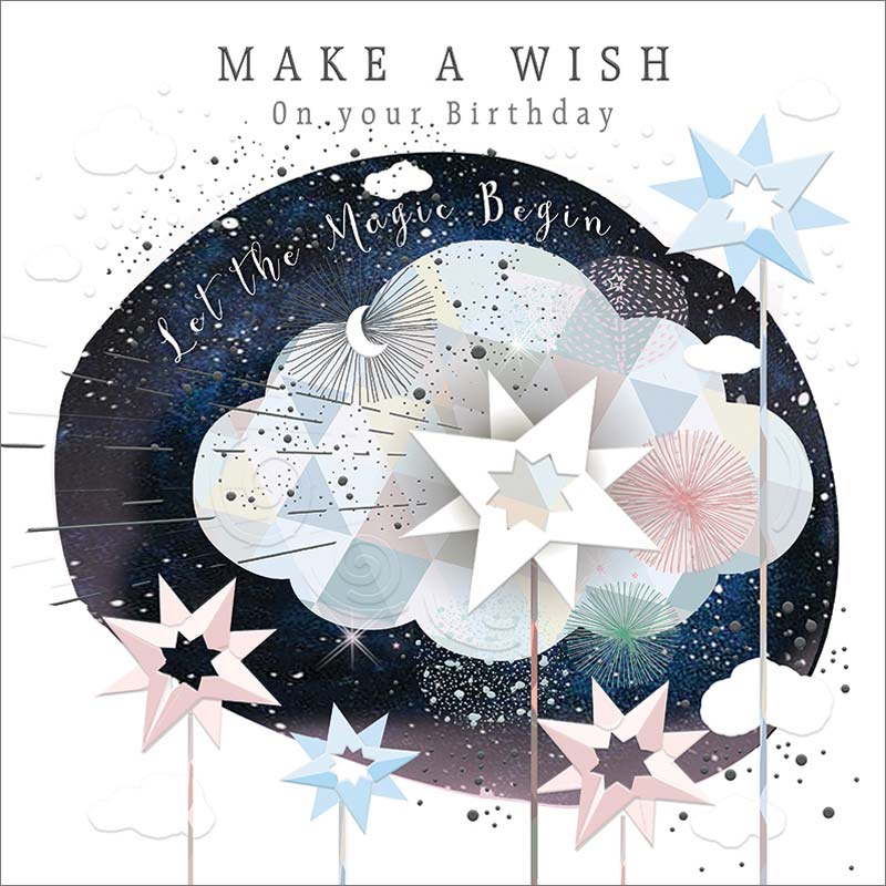 Real Exciting Designs Make A Wish Birthday Card Mol941
