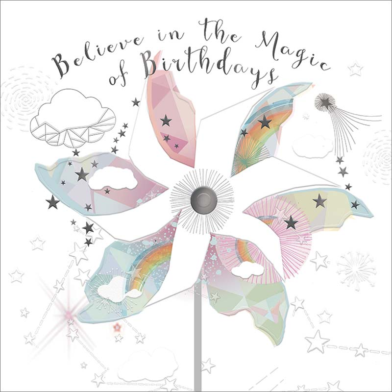 Real Exciting Designs Believe In Magic Birthday Card Mol943