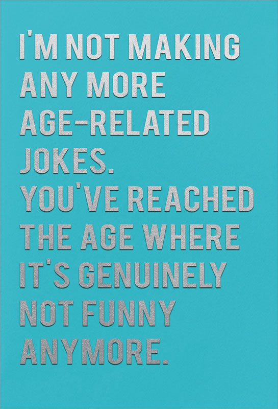 Redback Cards Age Jokes Birthday Card Cloud20