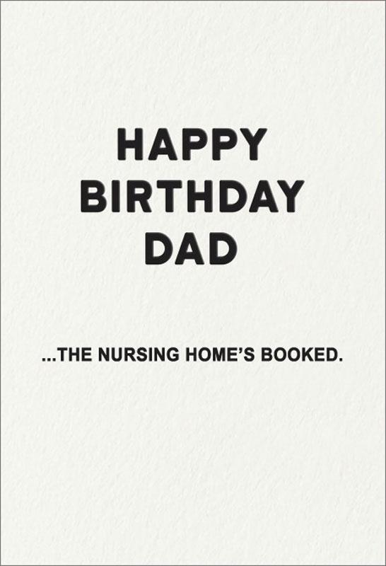 Redback Cards Nursing Home Dad Birthday Card Holyf025