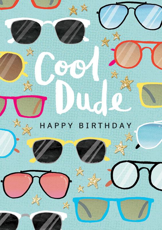 Rachel Ellen Designs Cool Dude Birthday Card Adm06