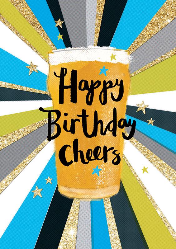Rachel Ellen Designs Beer Cheer Birthday Card Adm10