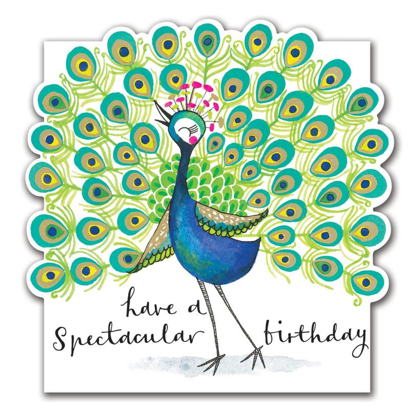 rachel ellen designs peacock birthday card ecloud076