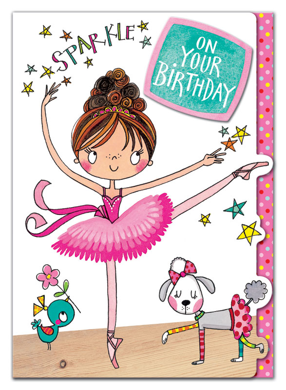 Rachel Ellen Designs Ballerina Birthday Card Eww013