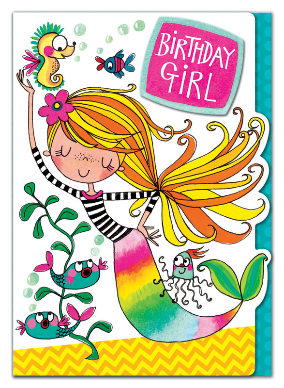 Rachel Ellen Designs Mermaid Birthday Card Eww015