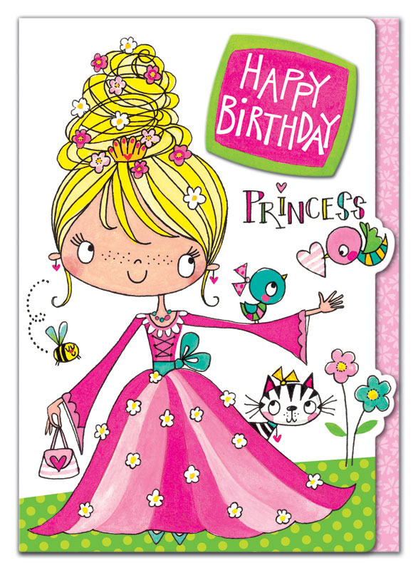 Rachel Ellen Designs Princess Birthday Card Eww017