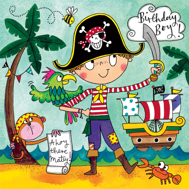 Rachel Ellen Designs Pirate Jigsaw Puzzle Birthday Card Jig57