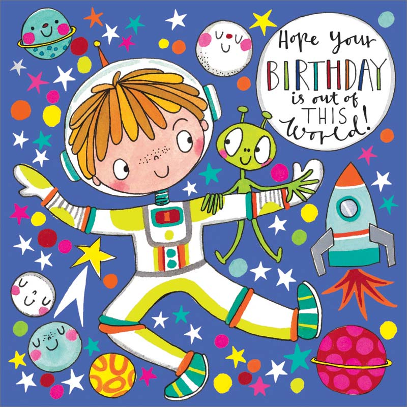 Rachel Ellen Designs Space Jigsaw Puzzle Birthday Card Jig63