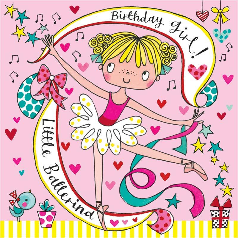 Rachel Ellen Designs Ballerina Jigsaw Puzzle Birthday Card Jig64