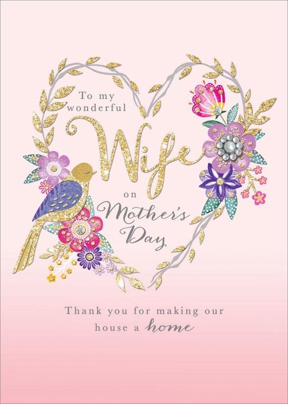 rachel ellen designs wife mother s day card mblos1