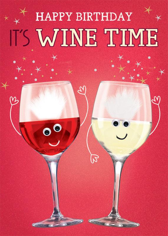 Tracks Publishing Ltd Wine Birthday Cards Fnq013