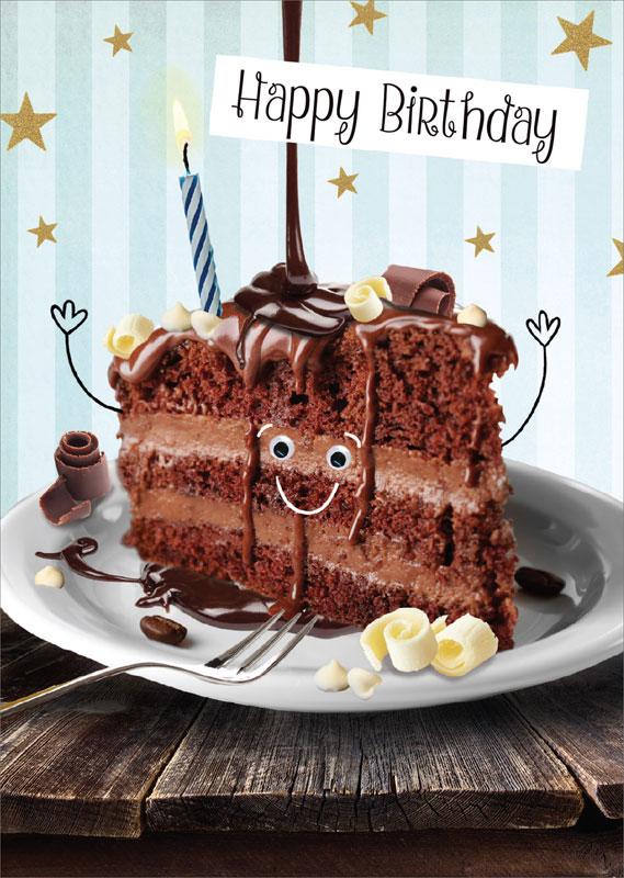 Tracks publishing ltd chocolate cake birthday card gnq004 m4hsunfo