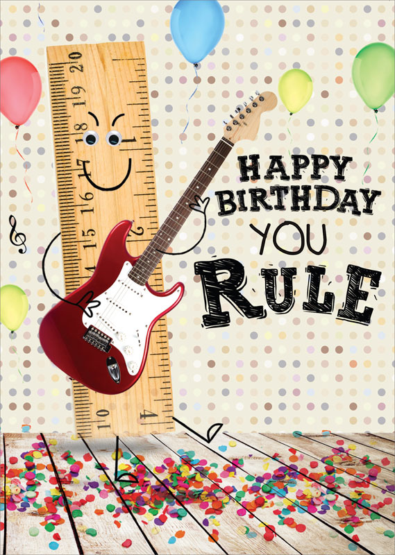 Tracks publishing ltd ruler guitar birthday card gnq007 bookmarktalkfo Choice Image