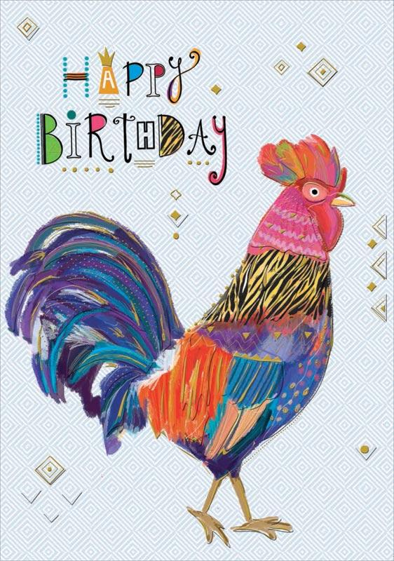 Astonishing Turnowsky Rooster Birthday Cards Mo7386 Funny Birthday Cards Online Hetedamsfinfo