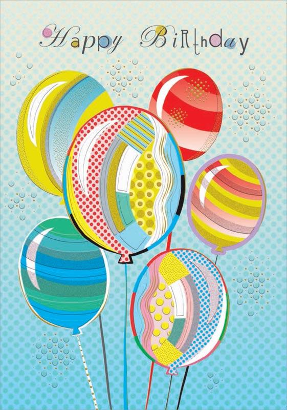 Turnowsky Balloons Birthday Cards Mo7637