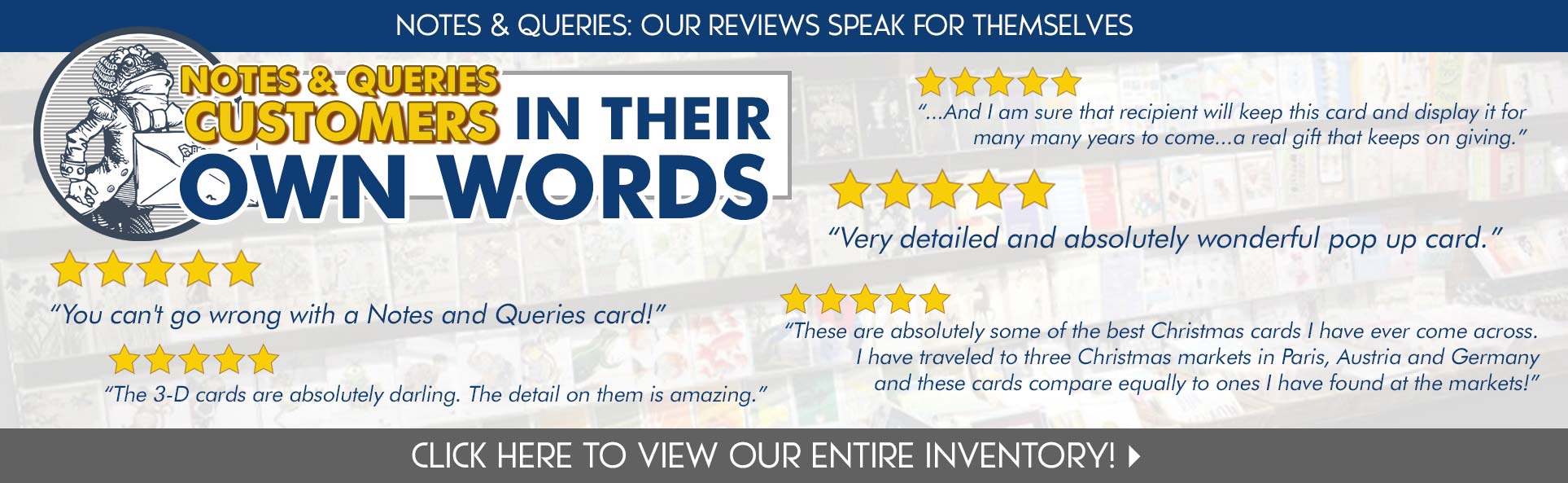 Notes & Queries Gets Five Star Reviews!