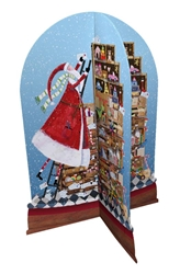 3D Santa on Ladder - Advent Calendar Christmas